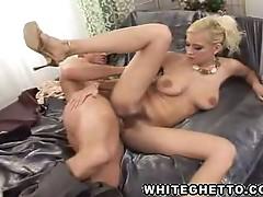 Blonde babe angel dark gets hairy pussy fucked