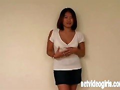 Asian cutie strips and masterbates for you