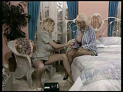 Nasty lesbian grannies with massive tits