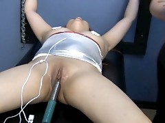 Asian redhead slave gets hooked up from mistress