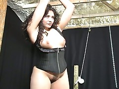 Bondage audition for plumper latina chick