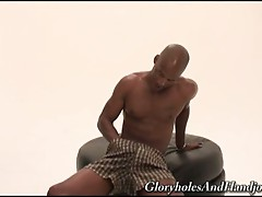 Experimentally check the dick by doing hand job