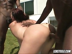 Gianna michaels in outside interracial threesome