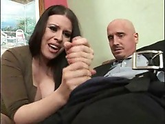 Big tits girl convinces cheating hubby to fuck her