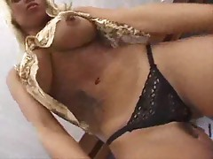 Breathtaking blonde penetrated by fat cock