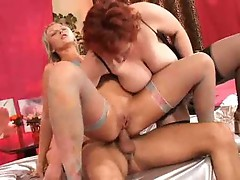 Young couple and mature fucking