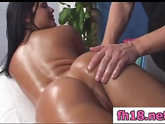 Hot 18 year old brunette gets fucked hard