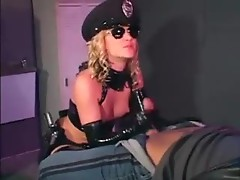 Hot latex cop wants his cock