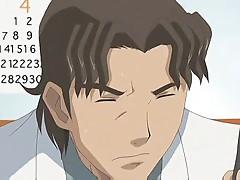 Nerdy anime girl experiences sex