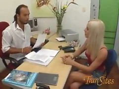 Slender blonde shemale Thais ass fucked