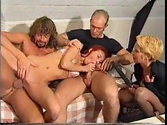 Gorgeous femdom in boots canes his ass