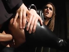 Tori Black in leather catsuit fucking hard