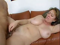 Mature with big wet tits has anal sex