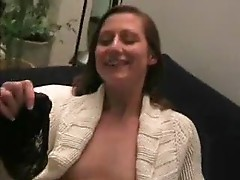 German with pierced pussy in sweater