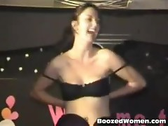 Drunken bride to be sucking cock at party