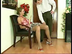 Girl in satin and stockings would love anal sex