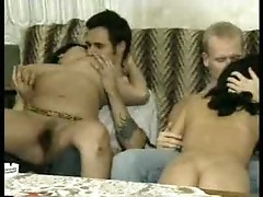 Group sex scene with many different women