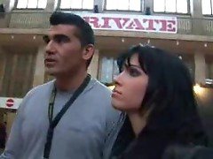 Remarkably beautiful girl fucked in public place