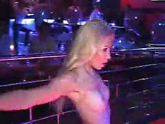 Strippers dancing at a club