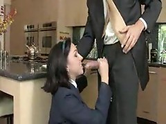 Schoolgirl earns grades with her pussy