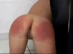 Teen flogged and spanked hard