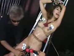 Abusing the Japanese girl for a long scene