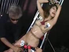 Abusing the Japanese girl for a long scene