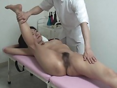Japanese girl is massaged in the nude