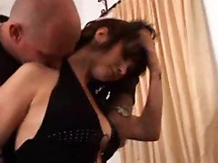 Housewife in little black dress cheats