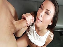 Erik Everhard eats a little of Sophia Santi's pussy and fucks her