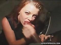 Slut Blows Huge Cock In Parking Lot