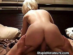 Hot Blonde Riding Cock