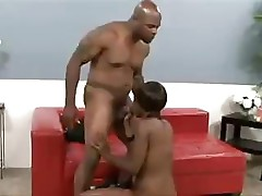 Ebony Stacy Adams takes this large black dick and commands it