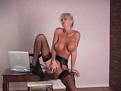 Big boobed MILF can't wait for hubby to get her pussy worked