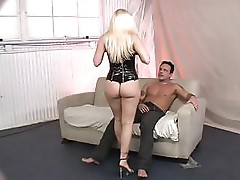 MILF is hot blonde who gets drilled from behind rather hard