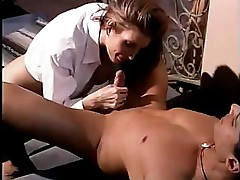 Brunette babe with nice tits does some hot and heavy fucking