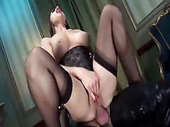 Cathy Heaven is approached by two cocks and takes them both in