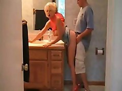 Hot Busty Blonde MILF Sex In Heels