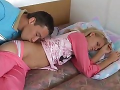 German couple gets some nice morning fucking in when she wakes