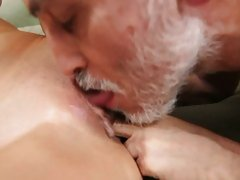 Whore Alanah Rae gets licked out by a wrinkly grandpa