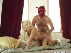 Brittney Skye gets put on her back with a cock put in her twat