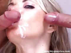 Vicky Vette prefers to top off a fuckfest with a delicious drink of cock milk