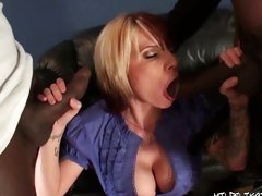 The ex girlfriend choked as the huge cock got rammed down her throat