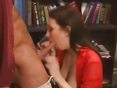 Luscious Rayveness shoves a huge dick down her throat