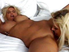 After a good fuck Brooke Belle slurps up Rhyse Richardson's hot pussy juice