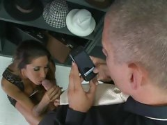 Seductive Kayla Carrera slurps on this thick prick