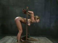 Wild slut Felony gets tied up &amp; left to suffer