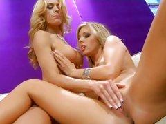 Horny Randy Moore torments Samantha Saint's veejay