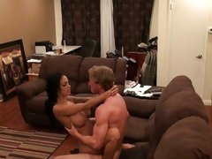 Blistering Angelina Valentine is caught fooling around