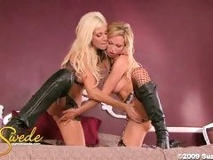Dirty slut Puma Swede and her female lover pleasure each other